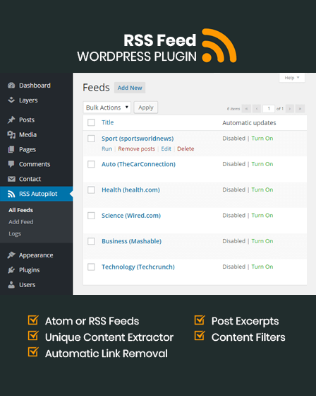 RSS Feed WordPress Plugin
