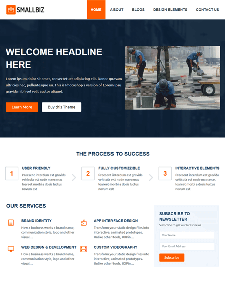 SmallBiz - WordPress Theme For Small Business