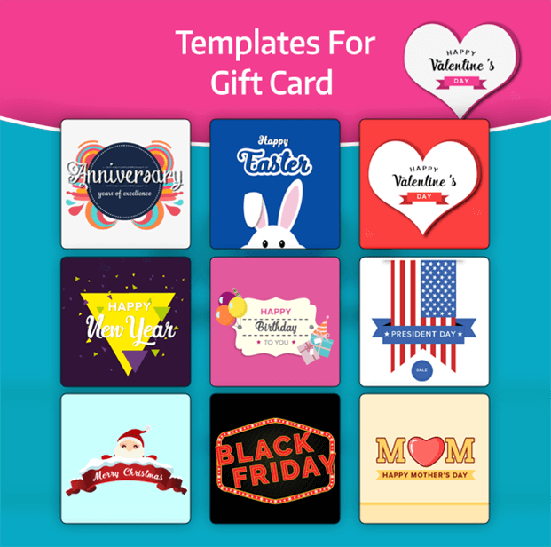 WooCommerce Gift Card Plugin - Templates For Gift Card