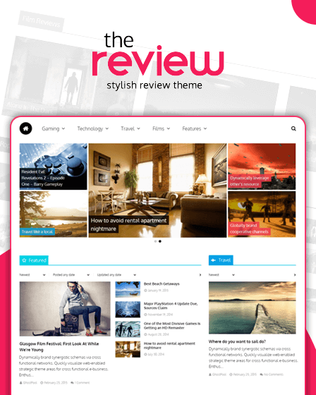 The Review - WordPress Magazine Review Theme