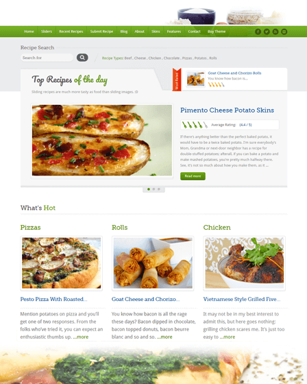 Food Recipes Feature Image
