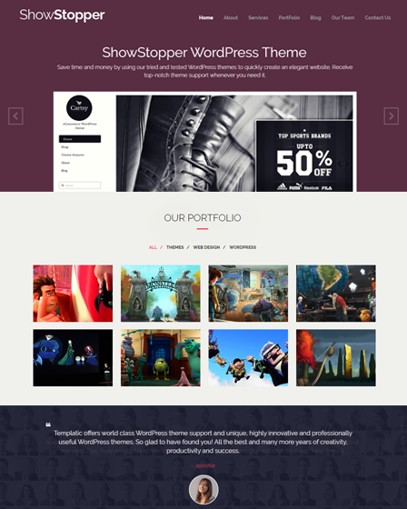 ShowStopper - WordPress Portfolio Theme