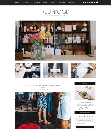 Redwood - Professional Blog WordPress Theme