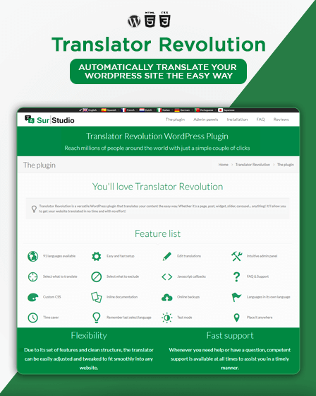 Translator Revolution Plugin - WordPress Translation Plugin