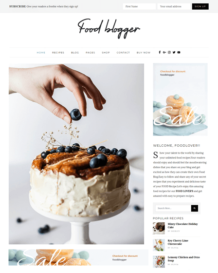 Food Blogger Image