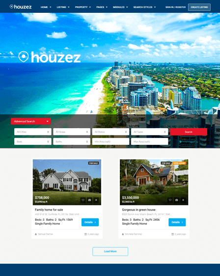 Houzez - WordPress Theme For Real Estate
