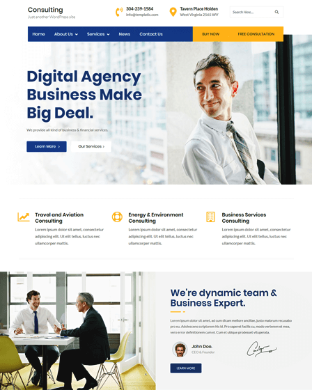 Consulting - Corporate Business WordPress theme