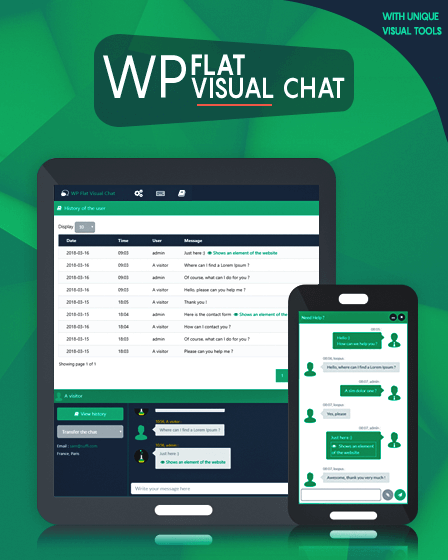 WP Flat Visual Chat Plugin