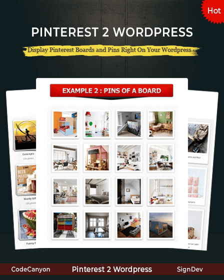 Pinterest to WordPress Plugin