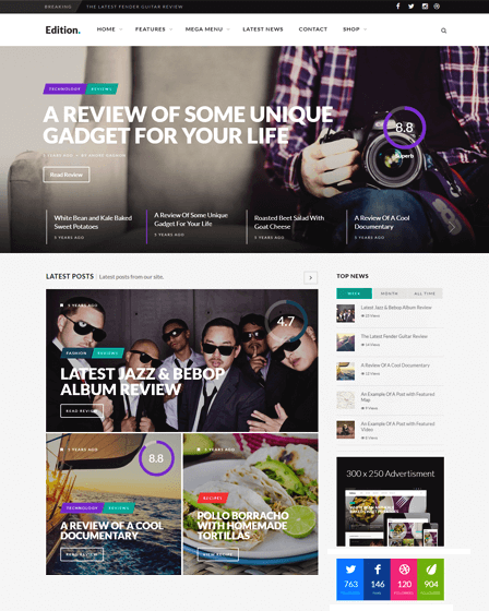 Edition - Responsive Magazine WordPress Theme