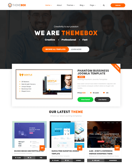 Themebox WordPress Theme