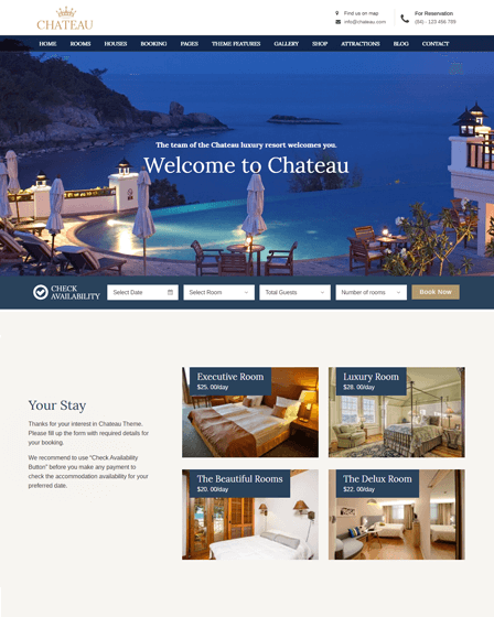 Hotel Booking WordPress Theme Feature Image