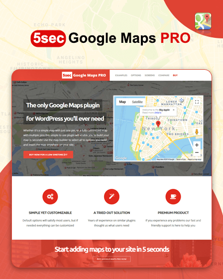 5Sec Google Map Pro Plugin
