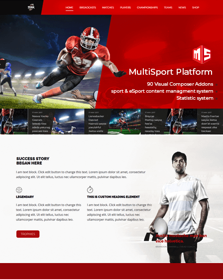 MultiSport Platform (MSP) - Wordpress Sports Plugin