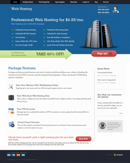 WebHosting WordPress Theme
