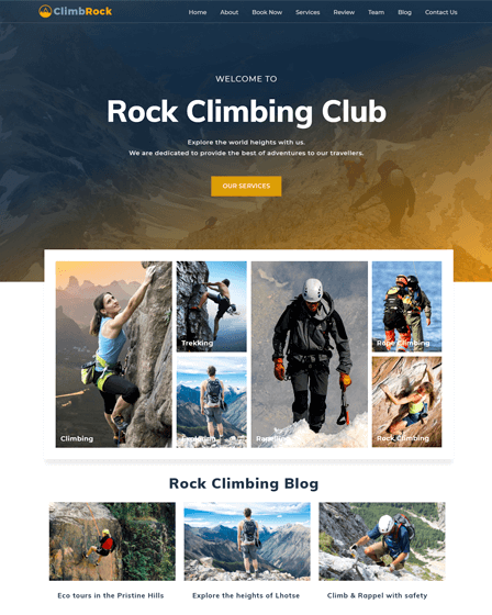 Climb Rock WordPress theme