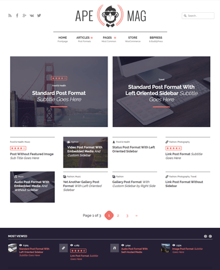 Apemag Magazine WordPress Theme