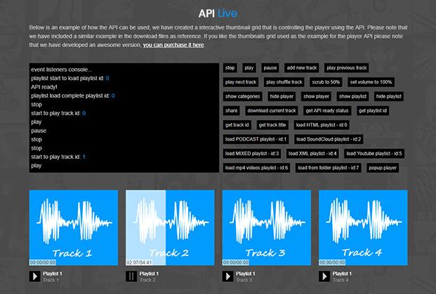 MP3 Sticky Audio Player Plugin - API Live