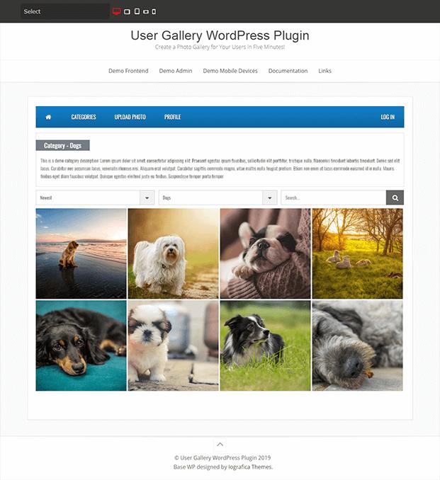 Category - WordPress Plugin For Gallery