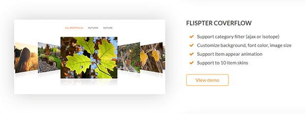 Flister Coverflow - Portfolio WordPress Plugin