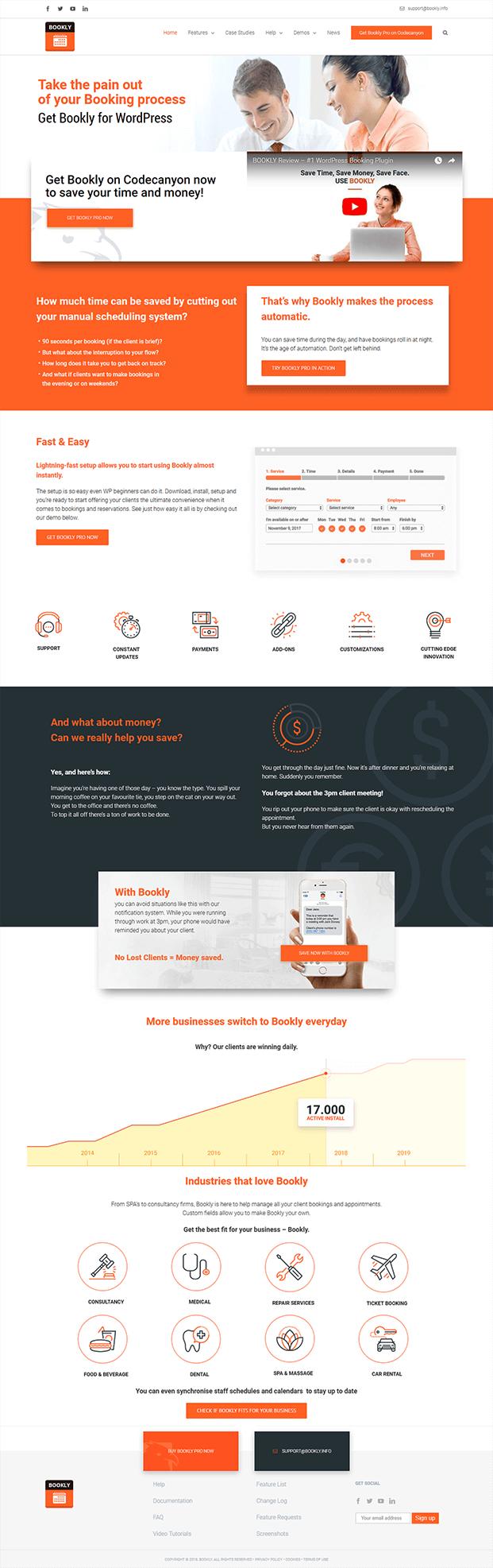 Bookly PRO WordPress Plugin - Home