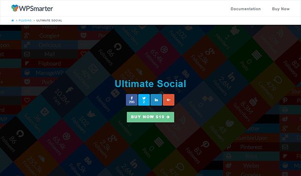 Ultimate Social Share Plugin - Home