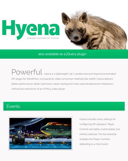 Hyena GIF WordPress Plugin