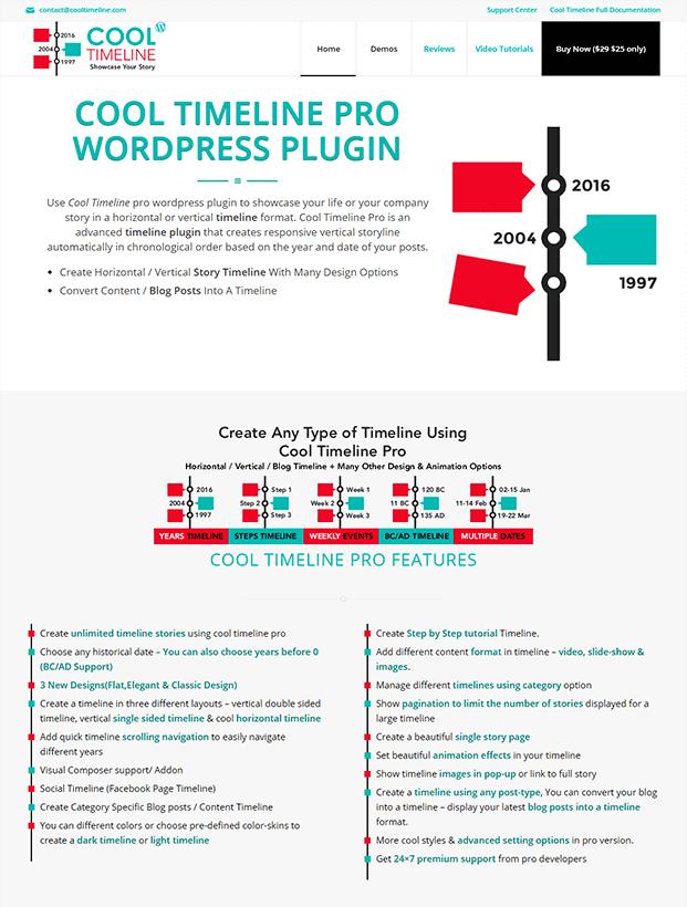 Cool Timeline Pro WordPress Plugin - Home