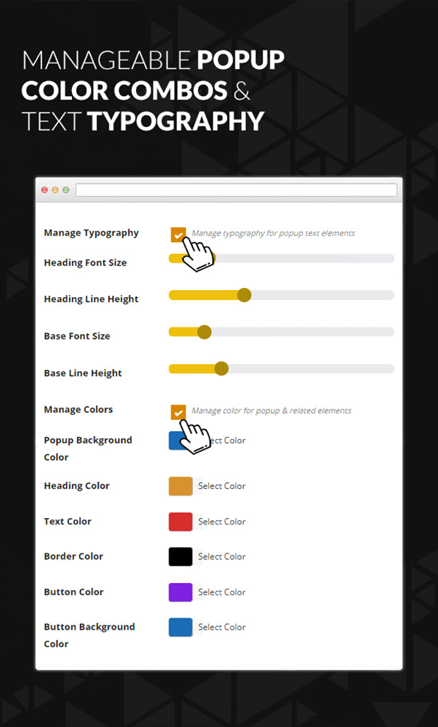 Manageable popup color combo - WordPress Age Verify Plugin