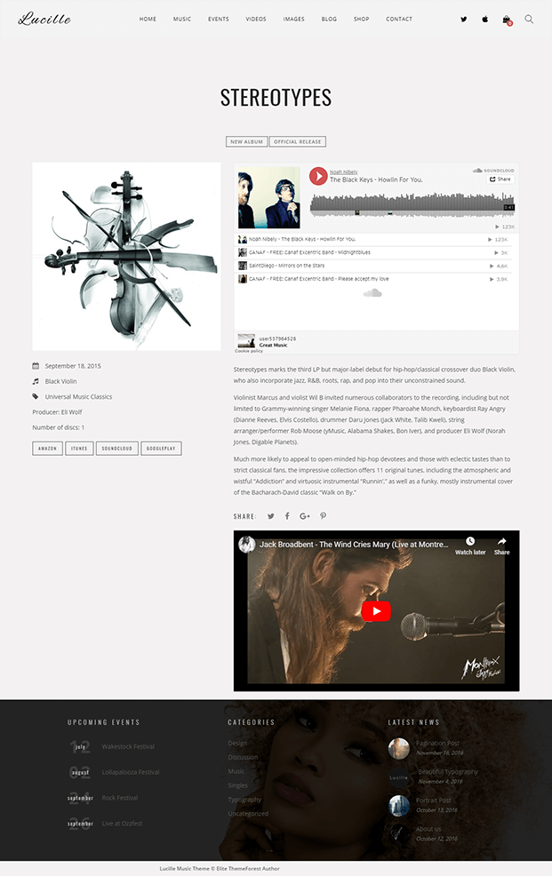 Music Discography Page