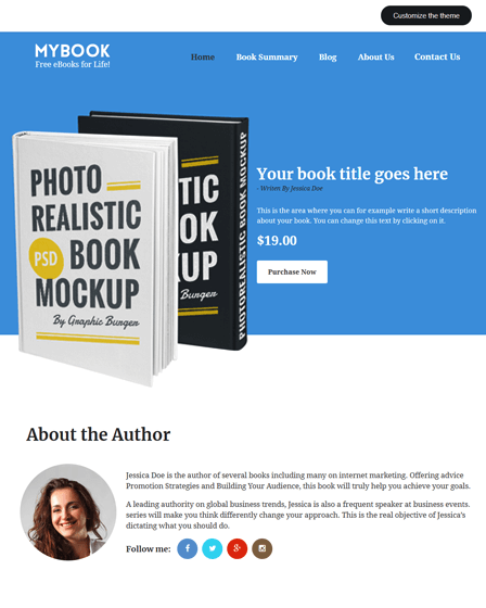 MyBook - Premium Author WordPress Theme