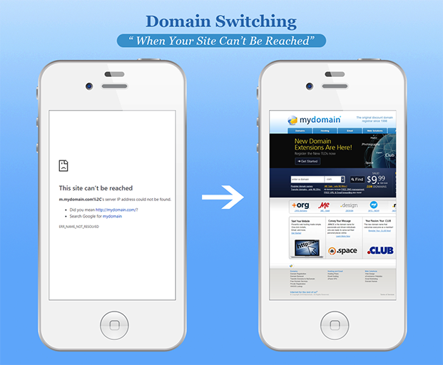 Mobile Smart Pro Plugin - Domain Switching Example 1