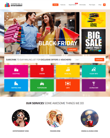 Shopping Center WordPress Theme