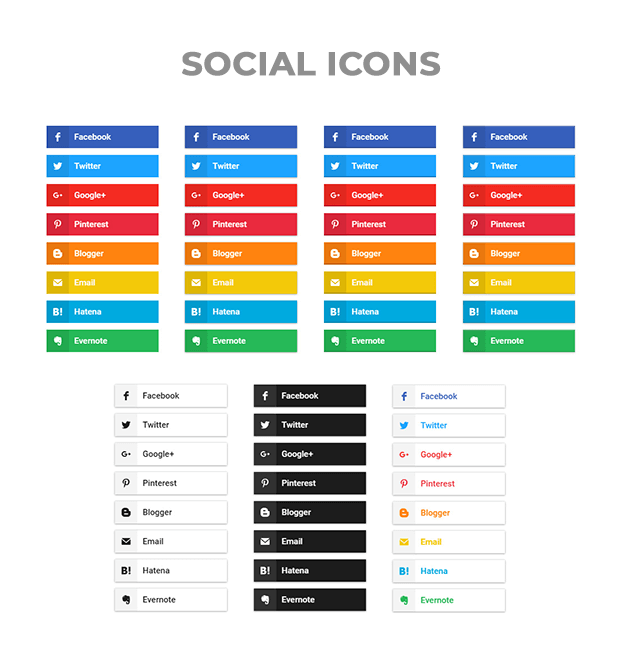 Social icons - Social Share Buttons WordPress Plugin