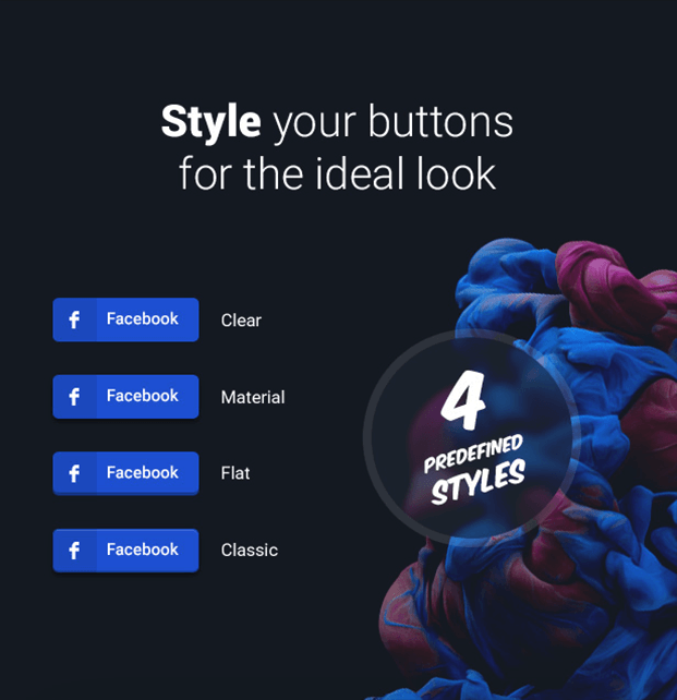 Style your button - Social Share Buttons WordPress Plugin