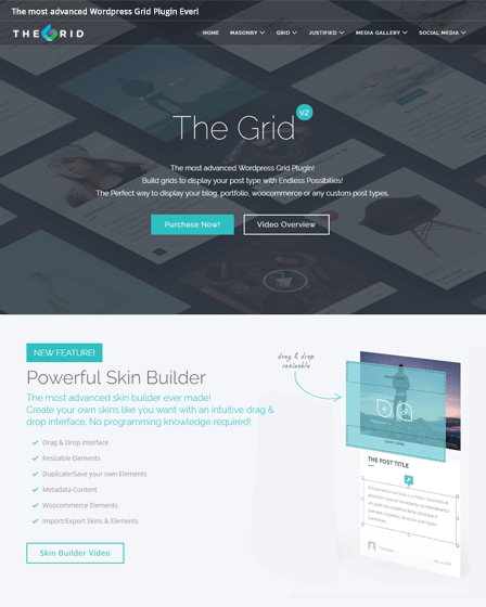 Grid WordPress Plugin