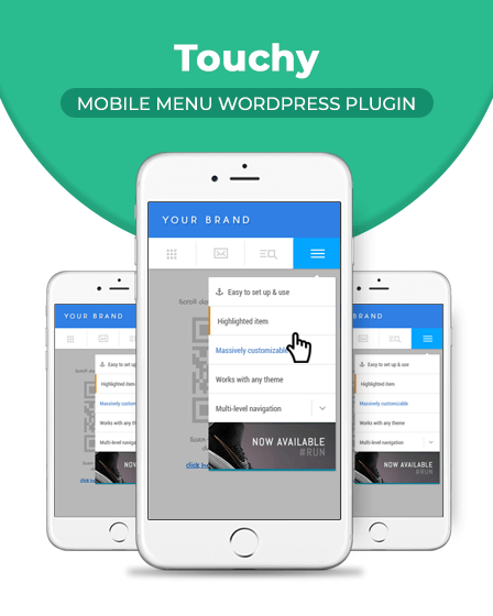 Touchy Mobile WP Plugin - Mobile Menu WordPress Plugin
