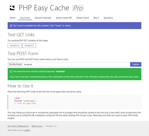 Cache PHP Script