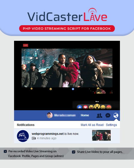 Vidcaster-PHP Video Streaming Script