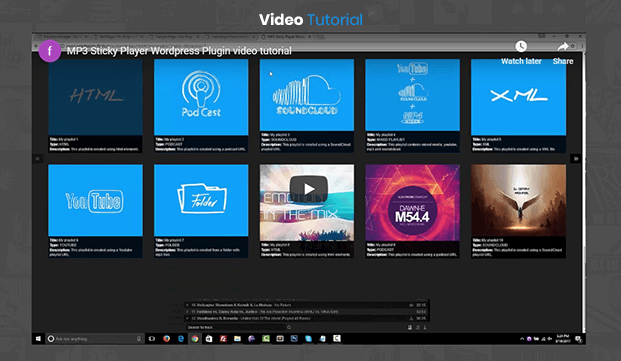 MP3 Sticky Audio Player Plugin - Video Tutorial