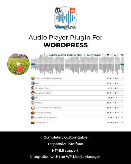 WavePlayer Image - Audio Player Plugin For WordPress