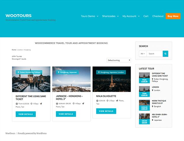 Travel Booking WordPress Plugin - WooTour