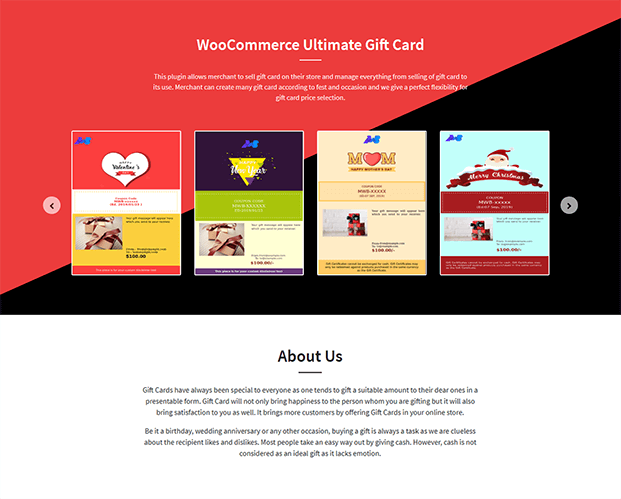 WooCommerce Gift Card Plugin - Home