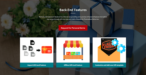 WooCommerce Gift Card Plugin - Back End Features