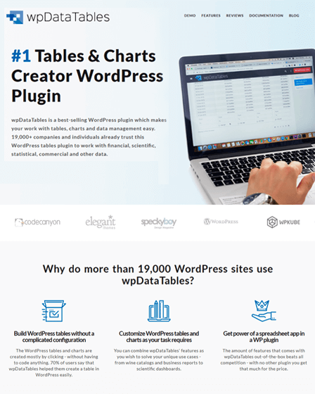 wpDataTables WordPress Plugin