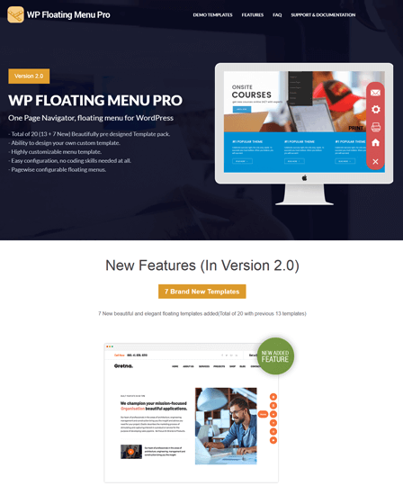 WP Floating Menu Pro Plugin