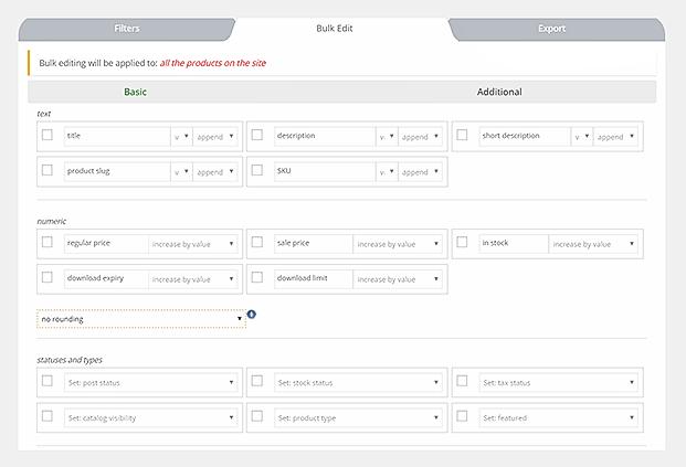 WOOBE WooCommerce Bulk Editor Plugin - Bulk Edit