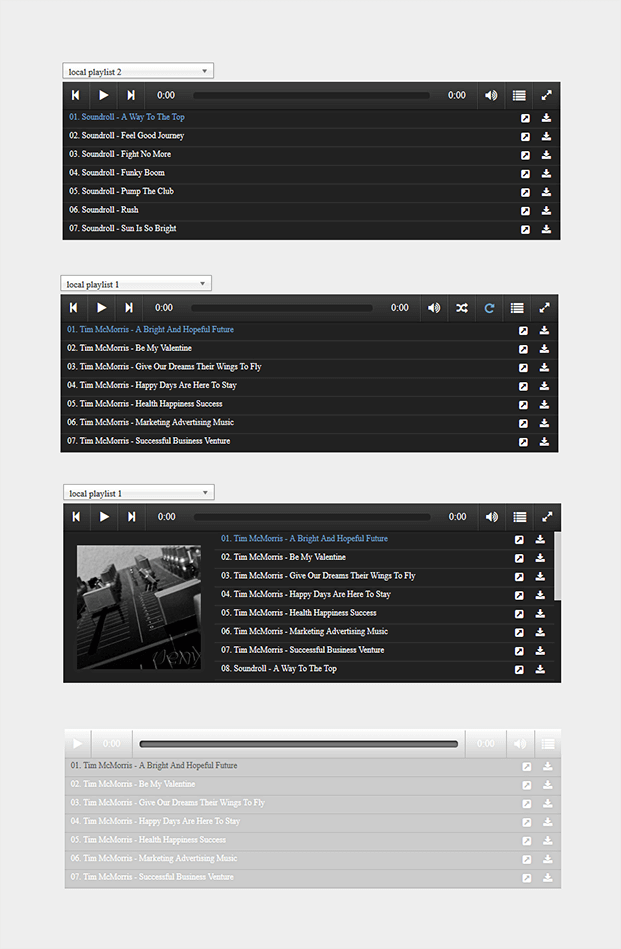 Music Player WordPress Plugin - Playlists