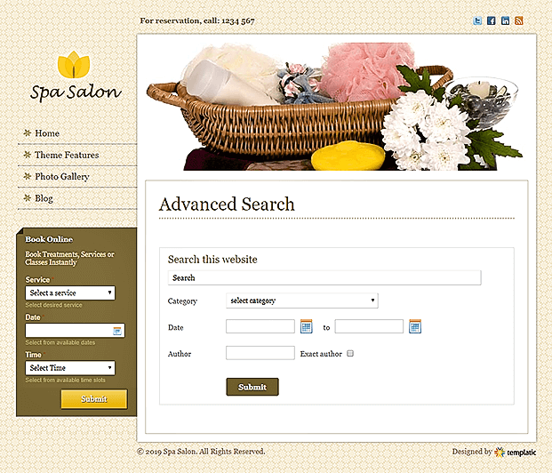 Advanced Search Page