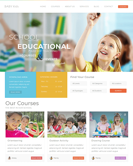 feature-children-wordpress-theme